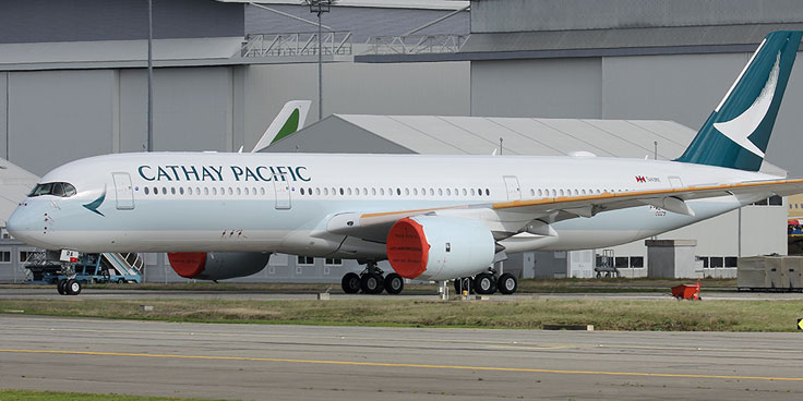 Cathay Pacific has confirmed that it will take delivery of its first Airbus A350-900 in Toulouse on 27 May