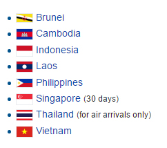 Which countries will get exemptions for visa to Myanmar ?