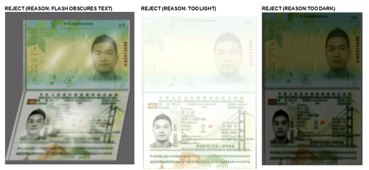 Guideline to scan/take the photo of your passport
